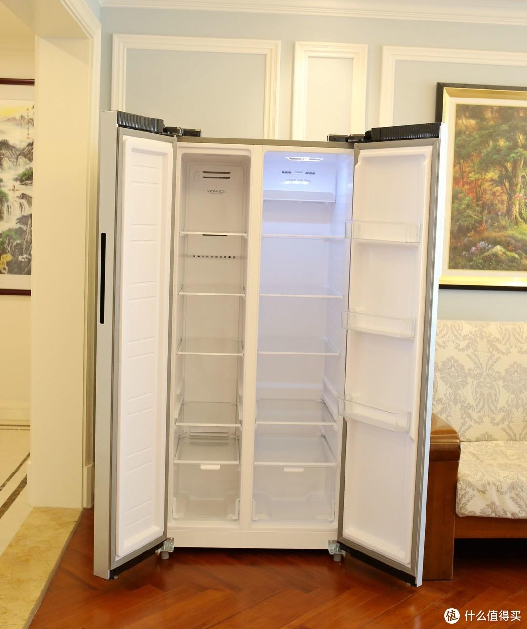 不会做饭吗?VIOMI云米对开门446升冰箱超大屏幕,做饭娱乐两不误