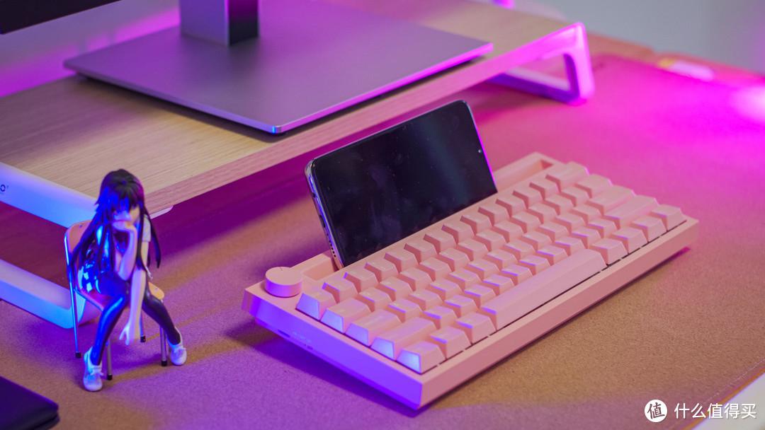 轻便光亮少女心-黑爵K620T蓝牙双模机械键盘