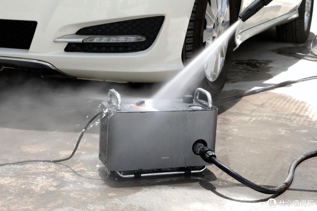洗车排队难,洗不干净?倍思F1高压洗车机可以一战!