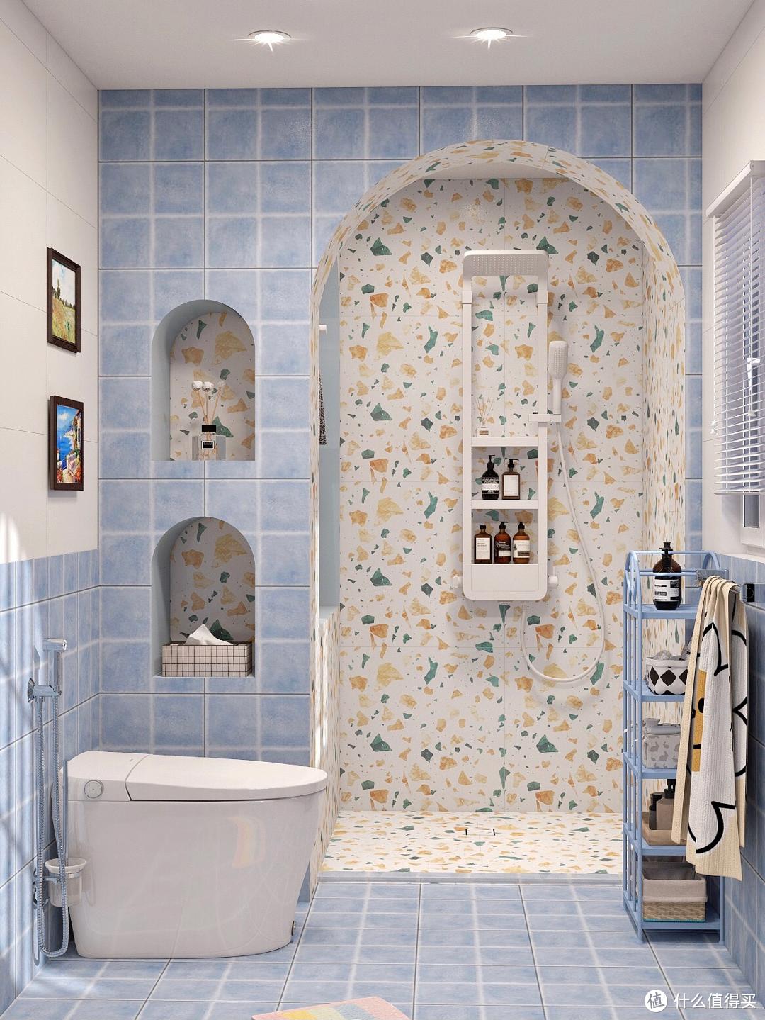 无视老公,才有了我爱的地中海浴室&智能马桶