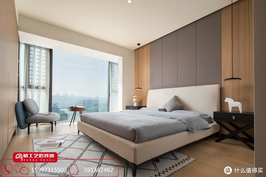 襄阳装修案例分享 汉水华城138平简约高级储物空间大
