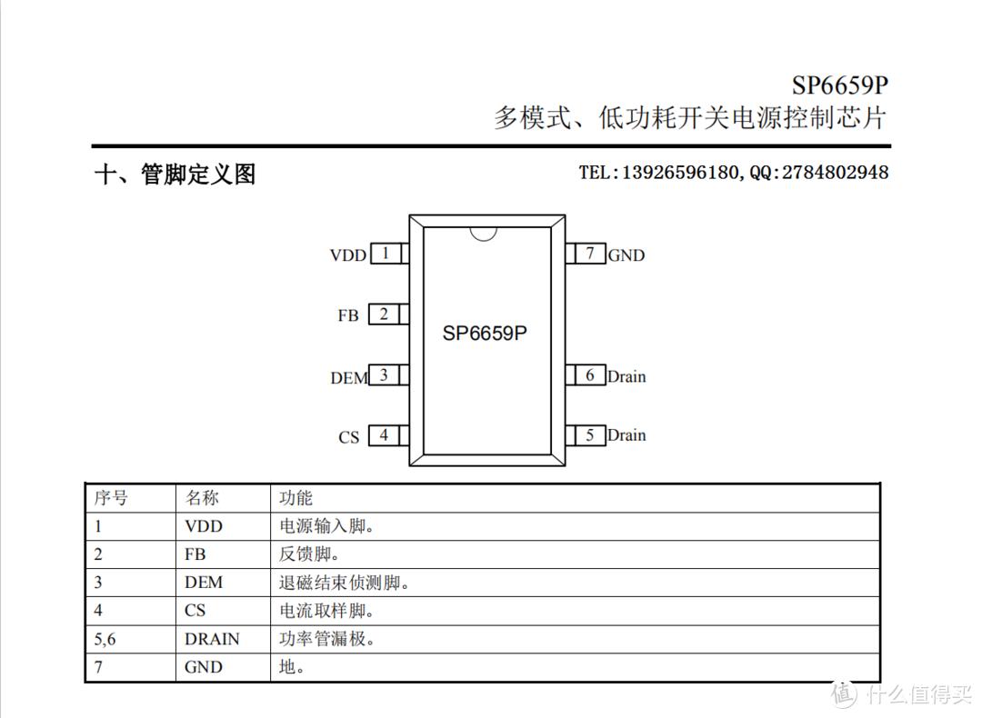 SP6659P内置MOS多模式低功耗开关电源控制芯片DIP7封装做12V2A