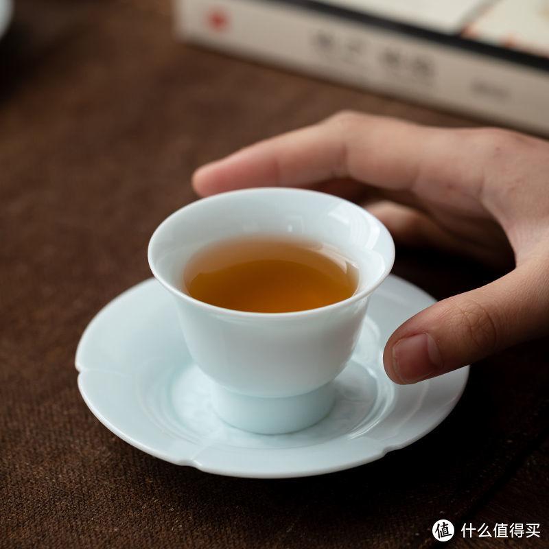 湖田影青茶杯