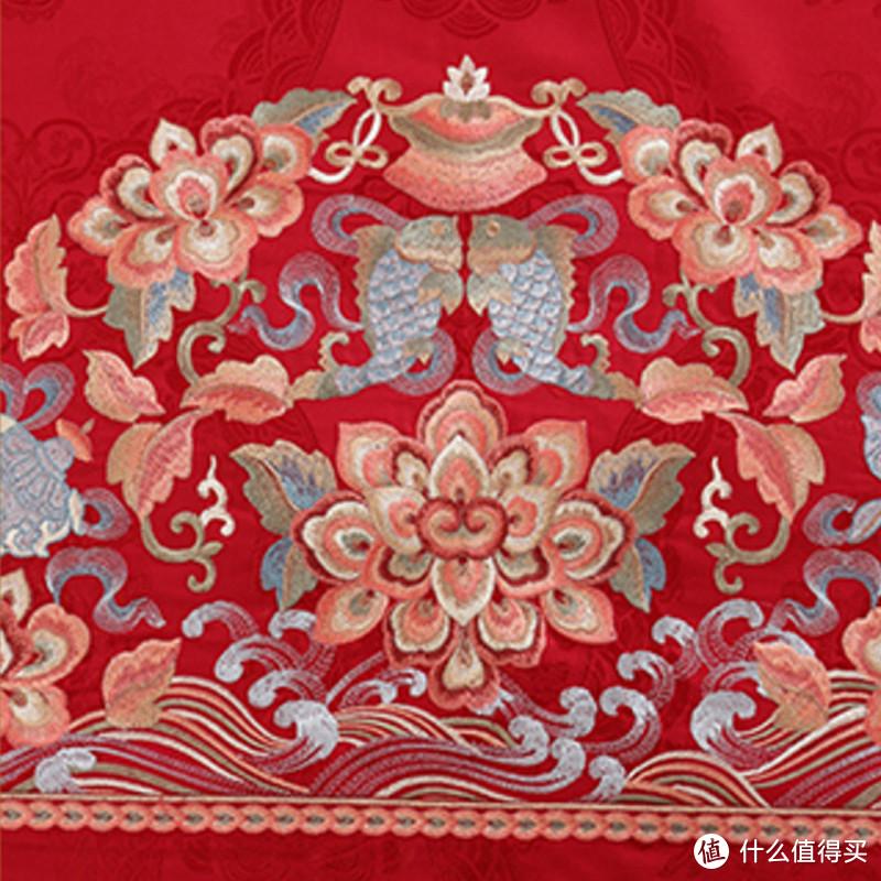 结婚睡正红刺绣床品,是什么感觉?