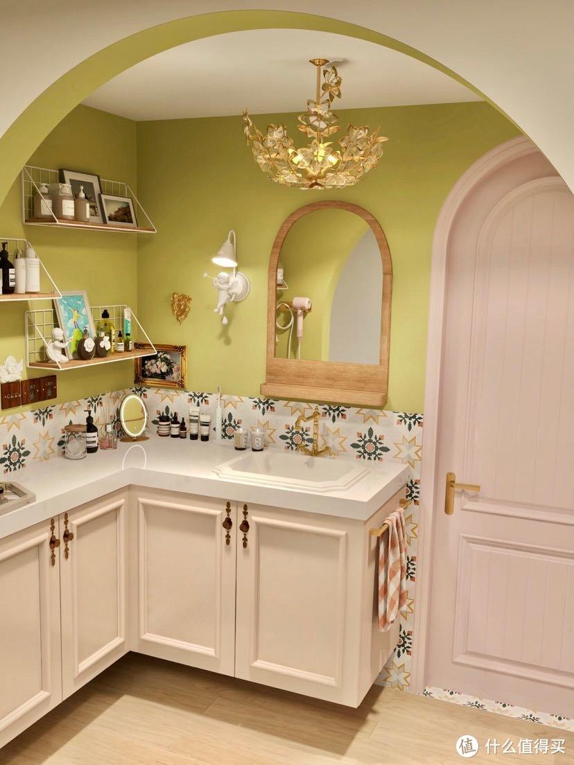 浴室也能小清新田园风,白色花洒太对了!