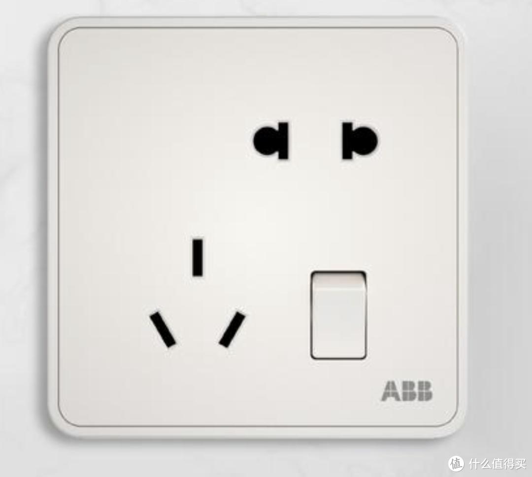 父亲节专题父爱的厚重全系插座标配安全门ABB纤悦朝霞金五孔开关插座