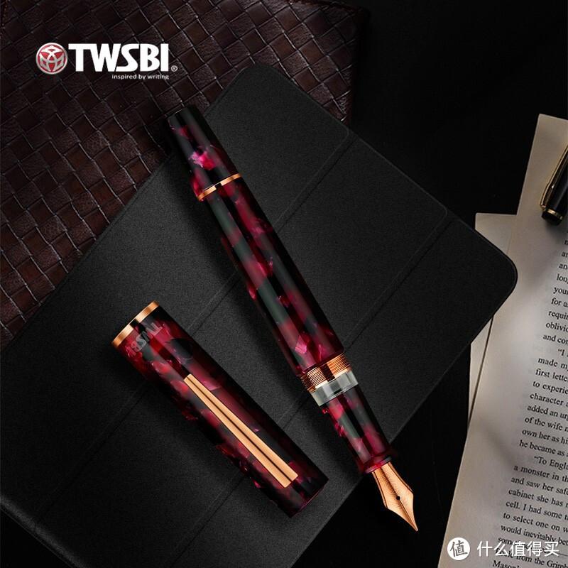 新品资讯:暗系红黑+经典活塞式吸墨,神秘又高贵,是买不起的三文堂Draco火龙钢笔~