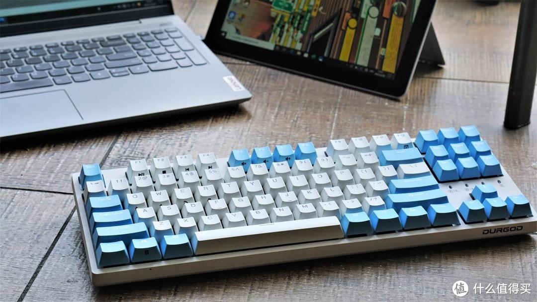 我的文章标题丰富连接,随心切换,杜伽K320W晴空蓝机械键盘上手