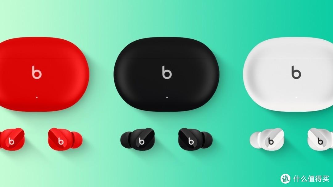 Beats Studio Buds 真无线耳机定妆照、小巧紧凑,充电盒采用USB-C