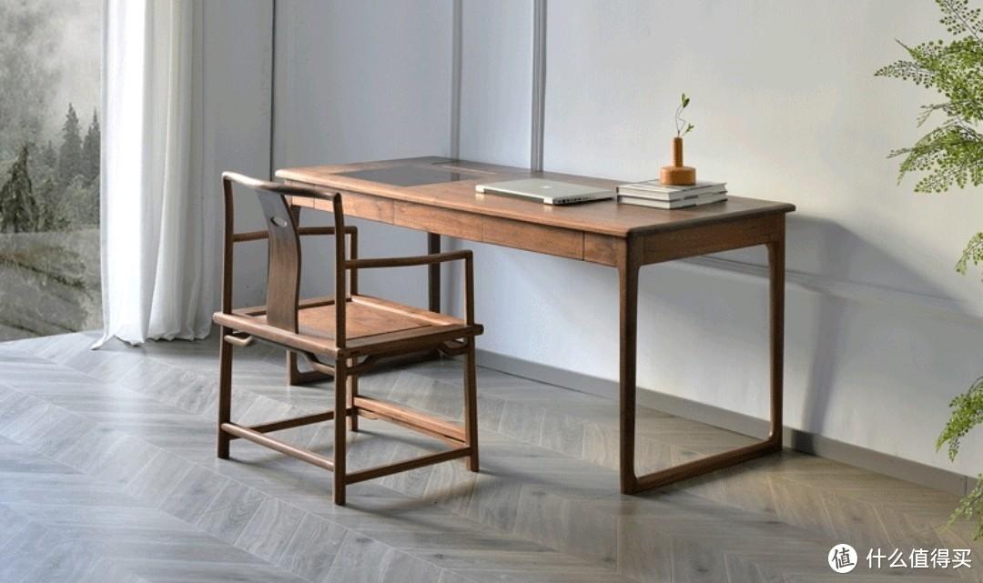 黑胡桃木新中式风格书桌