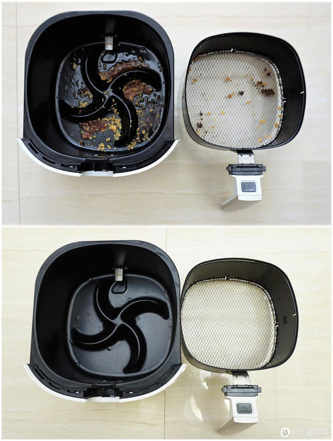 海外V10 10套洗碗机 清洗空气炸锅 及滤网效果对比