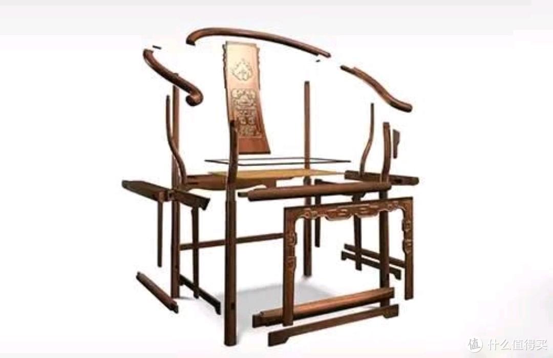 太师椅榫卯结构拆解图