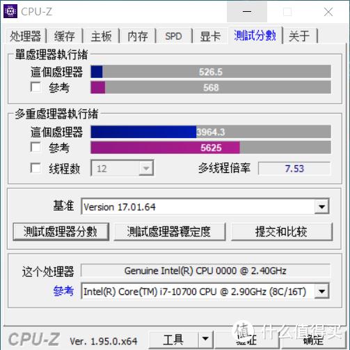 CPUZ 跑分