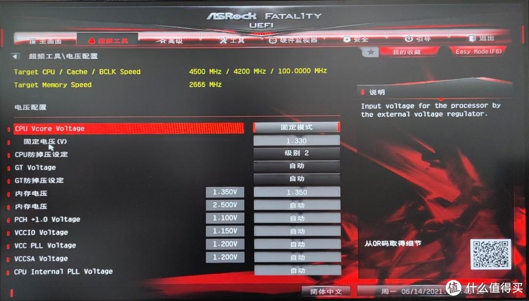 CPU电压配置