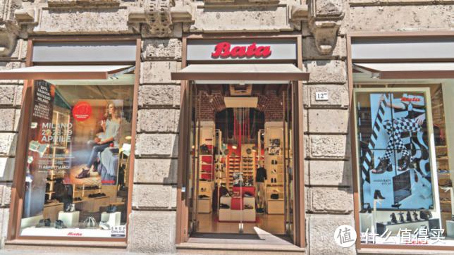 米兰市中心的Bata店铺