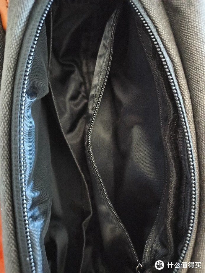 波斯丹顿男士帆布胸包,收货实物展示