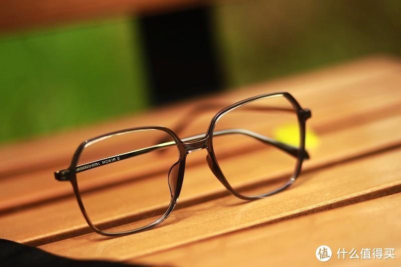18g 质感大方框 悠启防蓝光复古方框眼镜