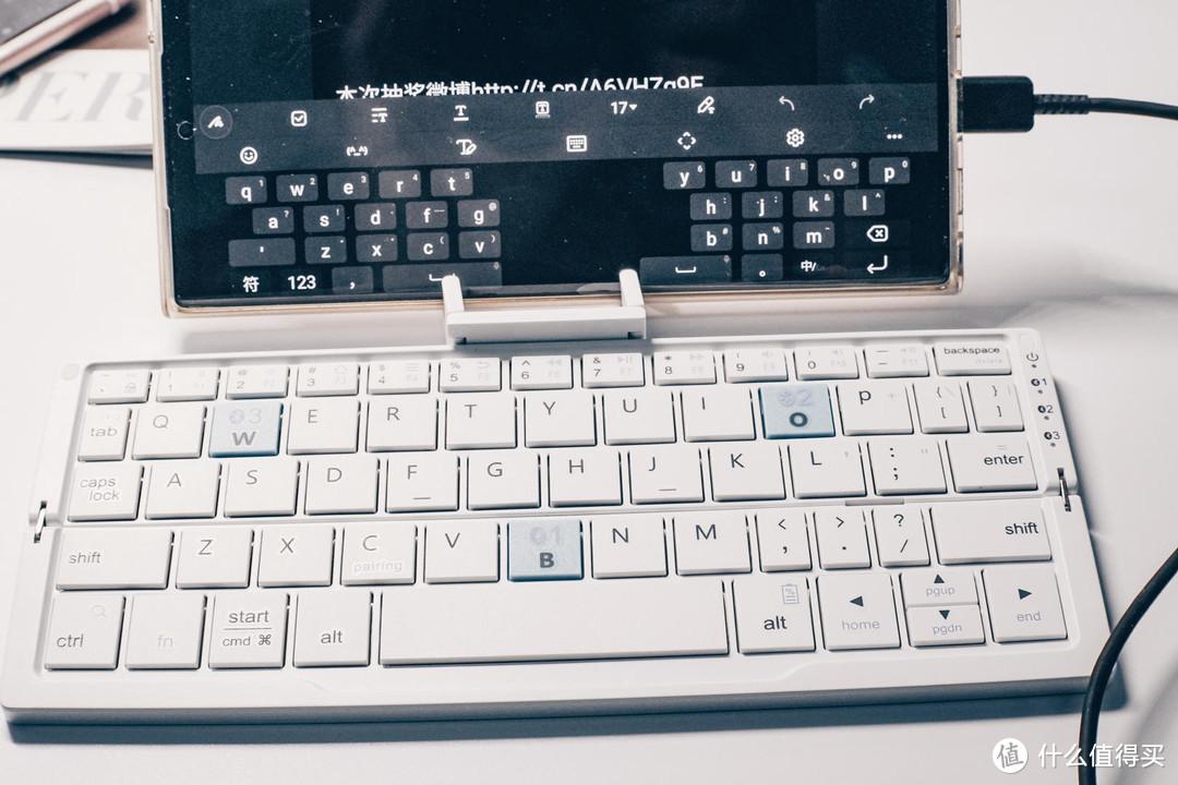 带隐藏支架 平板手机办公伴侣,BOW航世HB199 折叠蓝牙键盘体验