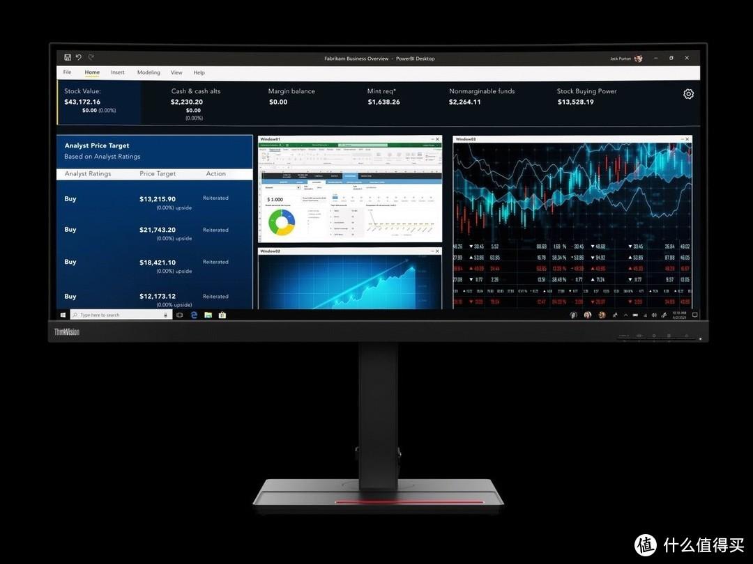 """联想发布ThinkVision P34w-20 4K""""带鱼屏"""",扩展丰富、99% sRGB色域"""