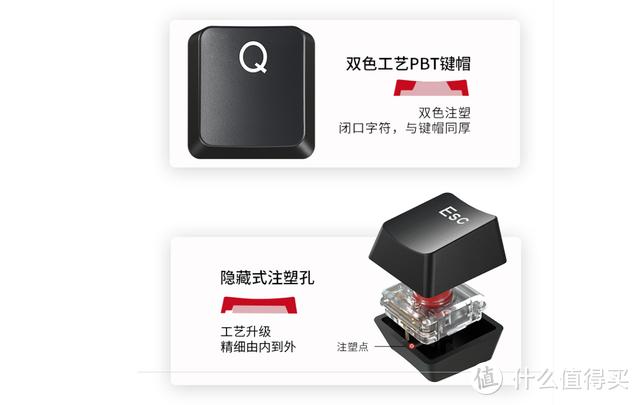 IKBC5阶段PBT双色键帽2.4G单模干电池,TTC矮红轴618首发199
