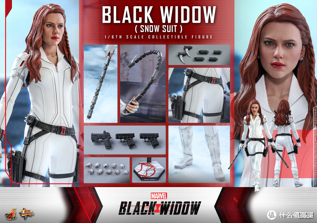 HotToys发布《黑寡妇》2款衍生1/6人偶,白色的黑寡妇真漂亮