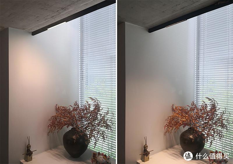 △ 泛光VS格栅射灯,泛光照亮整个空间、格栅射灯聚焦桌面,泛光更适合作为基础照明