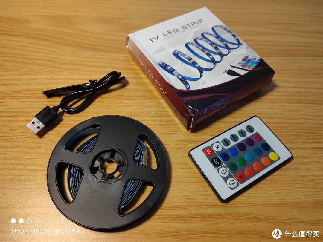国货威武:14块9搞定无线遥控RGB灯带,国产廉价灯条开箱安装简评