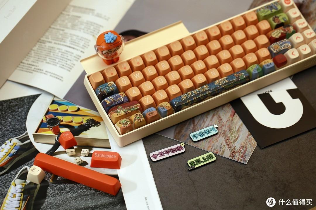 颜值+创意就是洛斐小翘69机械键盘,可DIY的键盘