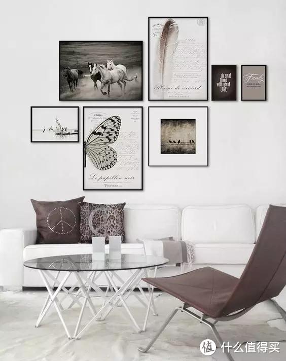 想要增加家的高级感,可以试试这几种「框画」搭配的小技巧