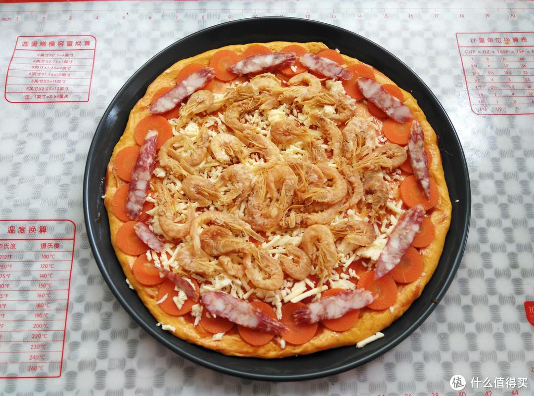 面粉加点料做成披萨,松软美味又营养,比包子简单,比发糕馒头好吃