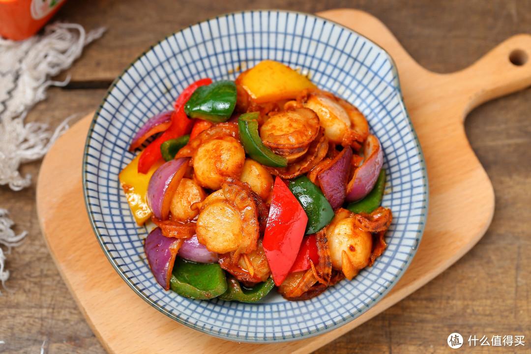 家常快手海鲜小炒,营养丰富热量低,大火爆炒简单好吃,太费米饭