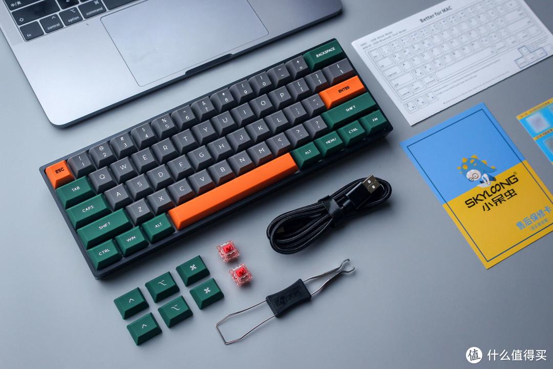 硅胶键帽可曾体验?小呆虫GK61机械键盘有够特别