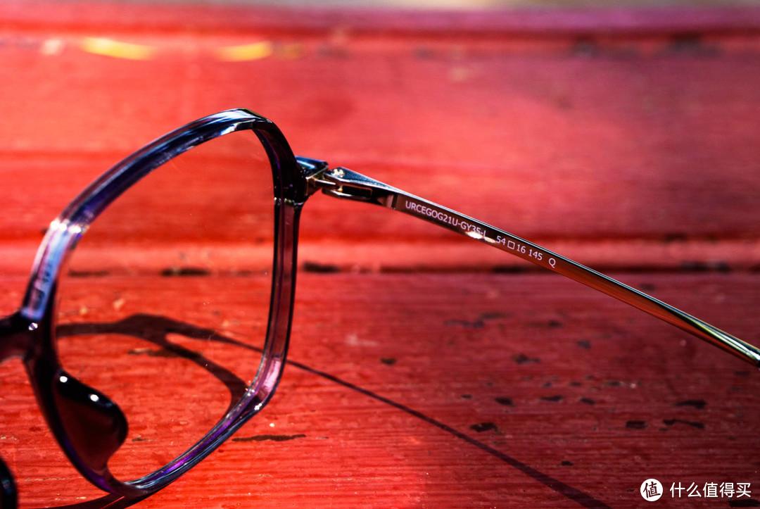 时尚简约穿搭,悠启防蓝光复古方框眼镜上手体验