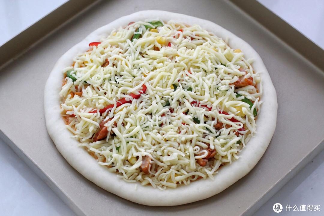 自制纯手工大披萨,料足味美超长瀑布拉丝,健康实惠吃着老过瘾了