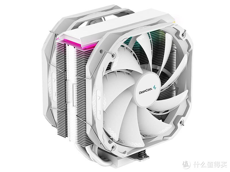 九州风神 发布 AS500 PLUS WH 白色特别版散热器,超薄双风扇5热管