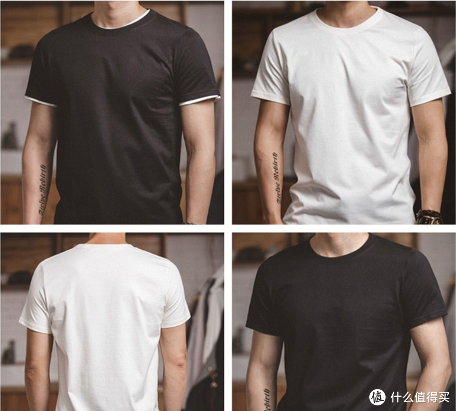 夏日微胖男的穿衣首先:重磅T恤。