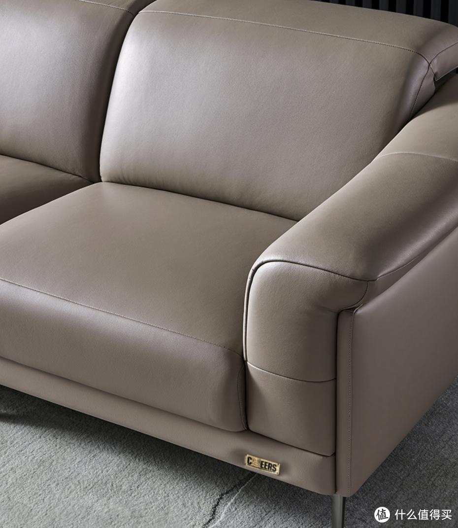 芝华仕意式轻奢三人位沙发,ELEGANT坐感系统,舒适支撑从肩脊到臀腿
