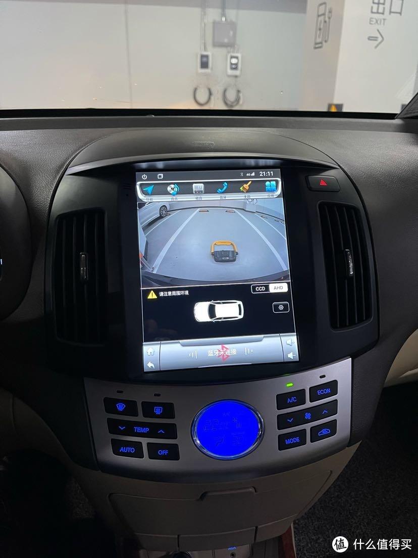 1080P倒车影像很清晰,这款原车无损安装,操作反应也流畅
