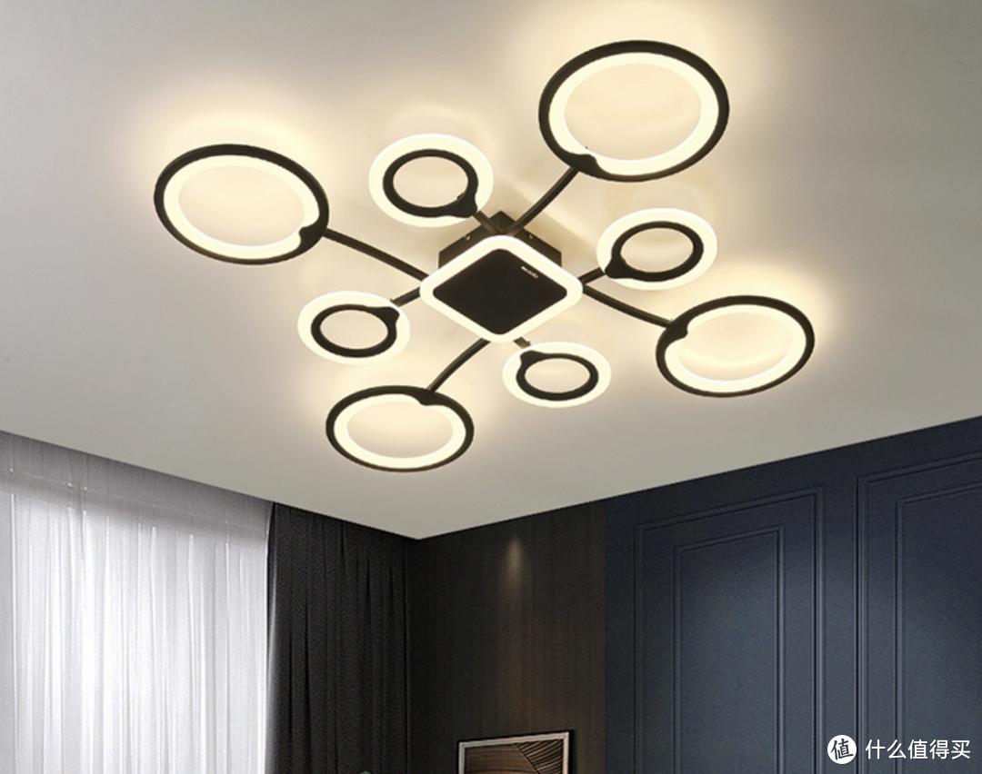 雷士照明现代创意吸顶灯,几何结构,支持米家APP智控