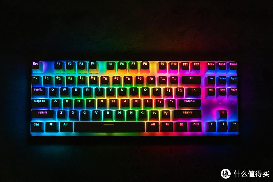 达尔优紫金轴V2和天空轴V2评测 彩透RGB展现更酷炫灯效