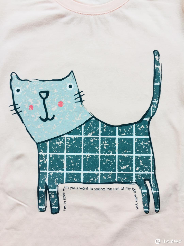 可居家可外穿 红豆儿童萌趣猫咪夏季家居服套装