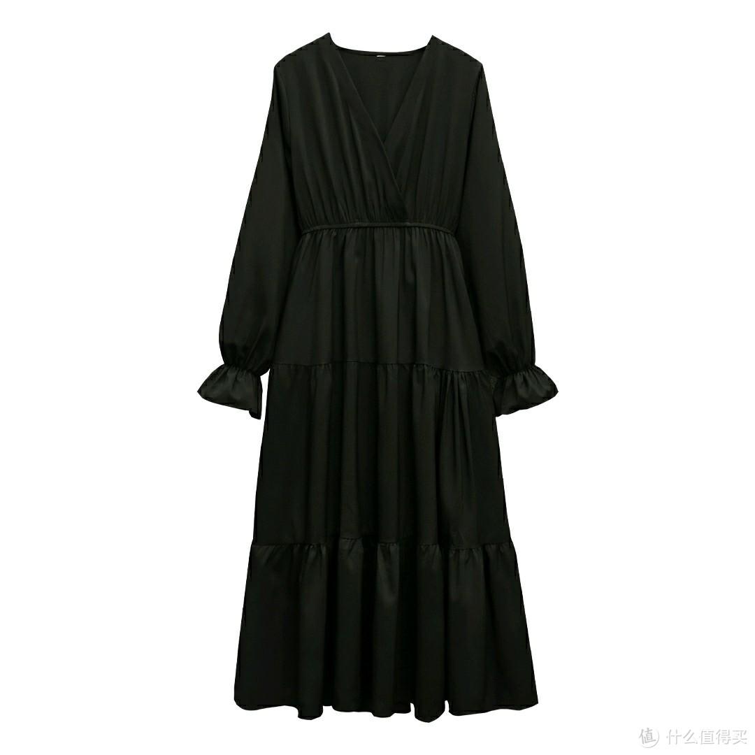 大码女装 实拍秋装新款洋气显瘦遮肚减龄连衣裙闺蜜裙 M-4XL200斤