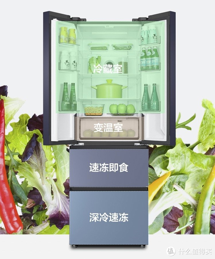 TCL推出315升变频多门冰箱:一级能效、搭载AAT负离子养鲜技术