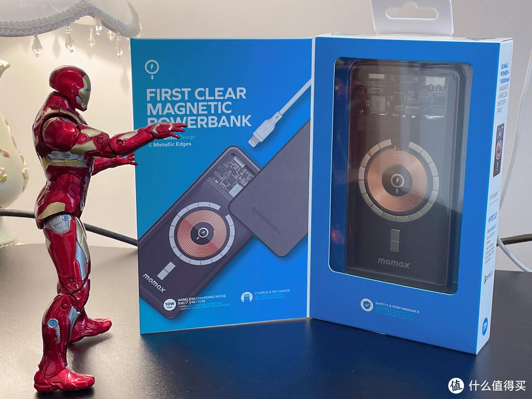 """为iPhone 12Pro配备""""超能战甲""""—MOMAX摩米士10000mAh透明磁吸无线充电宝"""