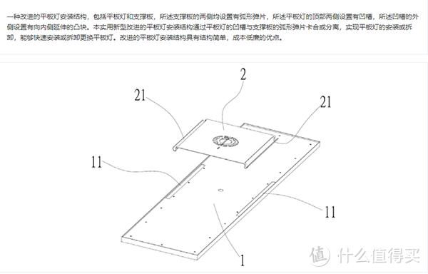 图:点点照明新品LED面板灯安装结构专利