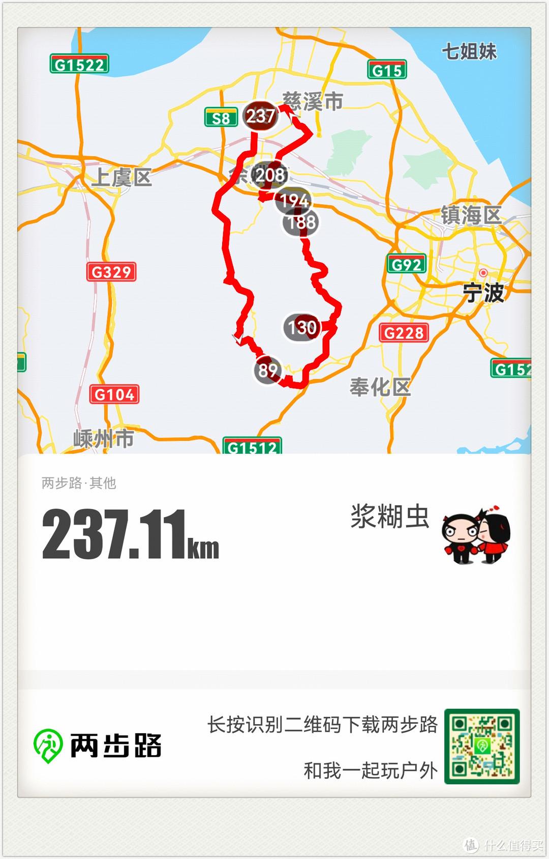 这是规划后的路线,总里程 237公里,其中一大半是山路