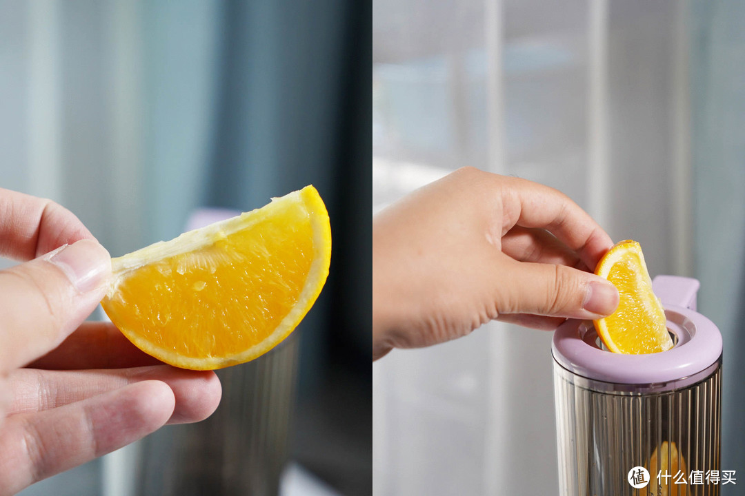 1/4橙子可以直接投入