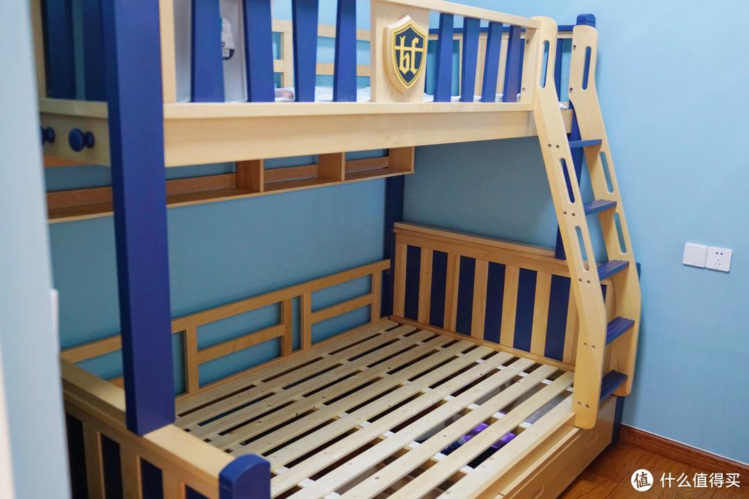为培养孩子分床,我买了张蓝盒子床垫