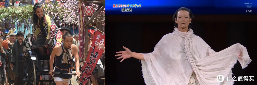东京奥运开幕式上森山未来的独舞表演,扮演疫情中的逝者。
