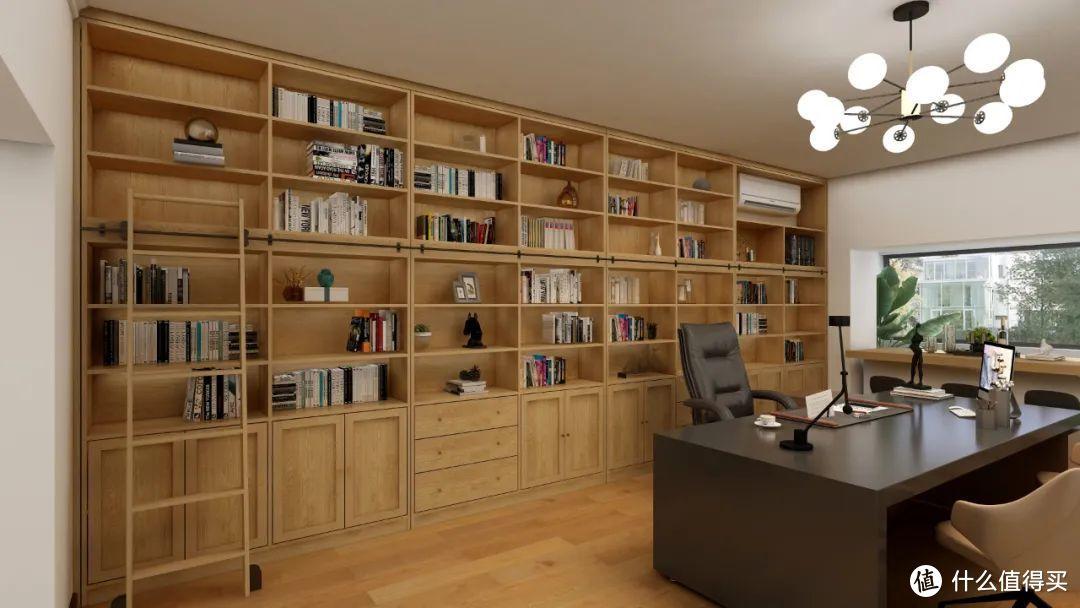 传说中的带梯书柜,集颜值和收纳于一体,6.6m*2.8m绝绝子